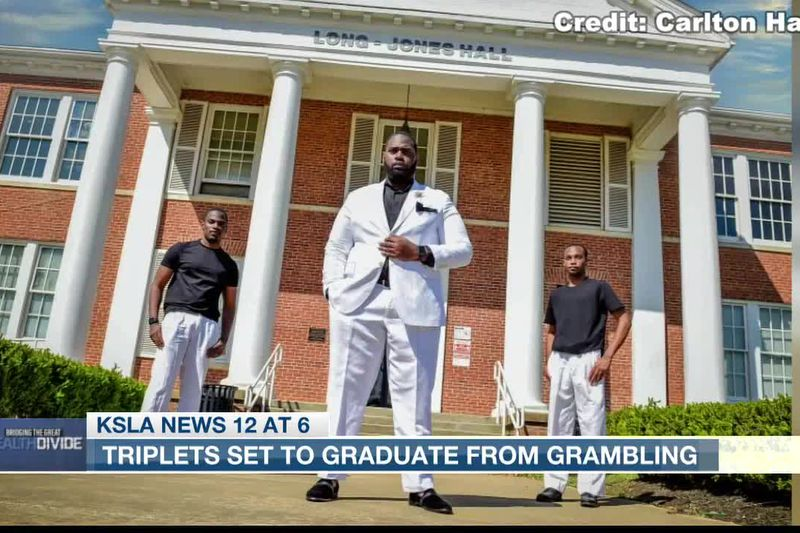 Triplets set to graduate from Grambling talk about their life goals