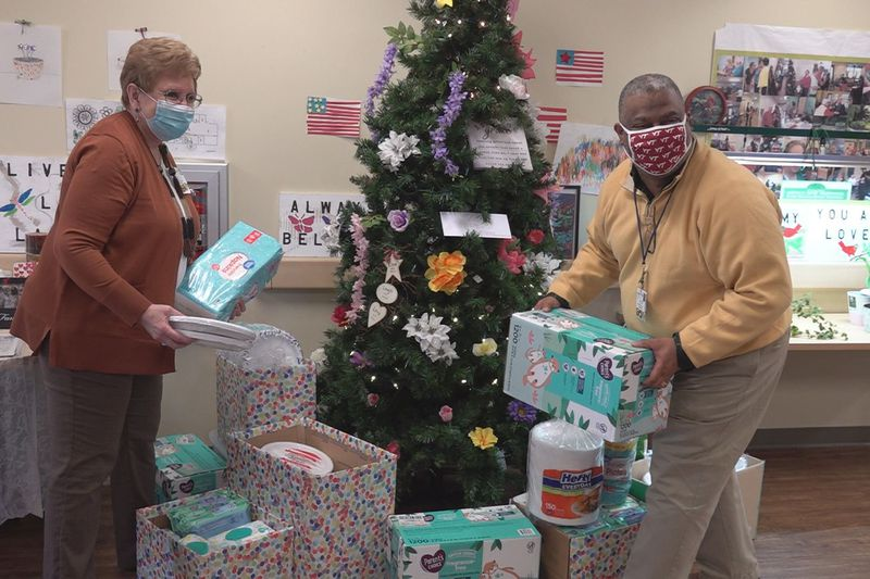 Employees at LewisGale Pulaski also collected supplies and donated it all to the center.