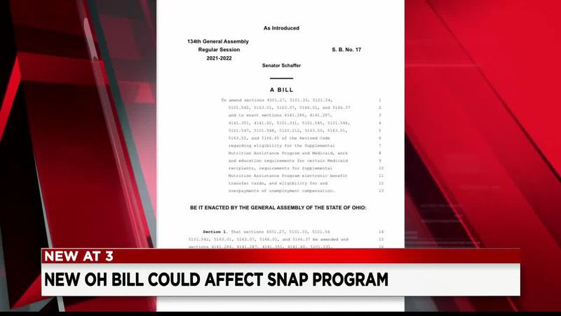 More than 100,000 Ohioans could lose SNAP Program benefits under proposed Ohio bill