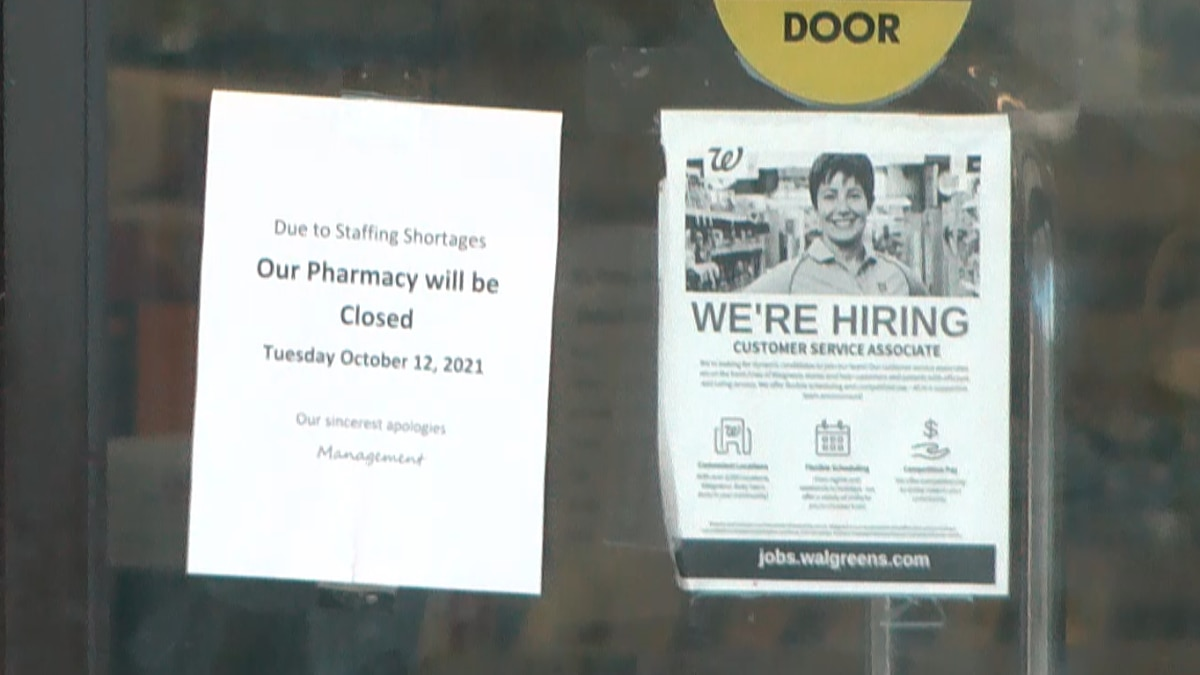 Several pharmacies have reportedly adjusted hours because of staffing.