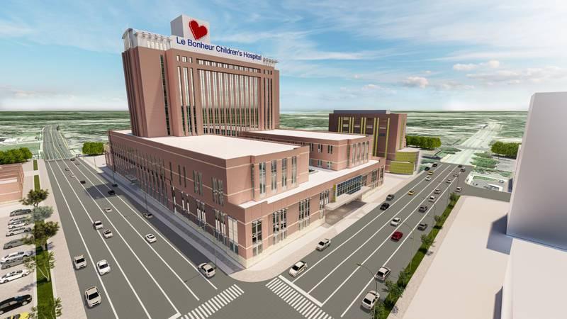 Le Bonheur Children's Hospital expansion rendering