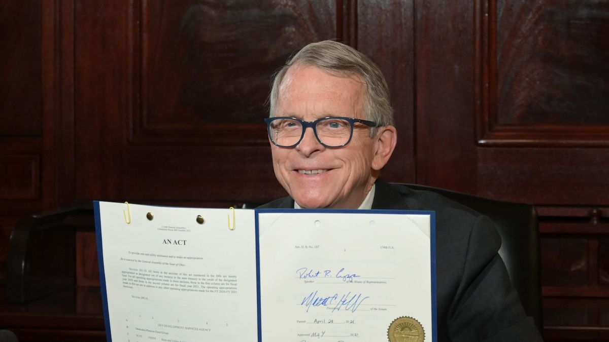 Gov. Mike DeWine signed Ohio House Bill 167 into law Tuesday. It provides $465 million to the...